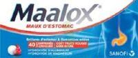 Maalox Maux D'estomac Hydroxyde D'aluminium/hydroxyde De Magnesium 400 Mg/400 Mg Sans Sucre Fruits Rouges, Comprimé à Croquer édulcoré à La Saccharine Sodique, Au Sorbitol Et Au Maltitol à ANNEMASSE