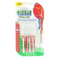 Gum Trav-ler 4 Brossettes Rouge Interdentaires 0.8mm à ANNEMASSE