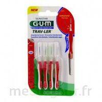 Gum Trav - Ler, 0,8 Mm, Manche Rouge , Blister 4 à ANNEMASSE