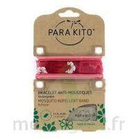 Para'kito Bracelet Antimoustique, Fleur Rouge à ANNEMASSE