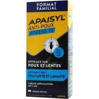 Apaisyl Anti-poux Xpress 15' Lotion Antipoux Et Lente 100ml+peigne à ANNEMASSE